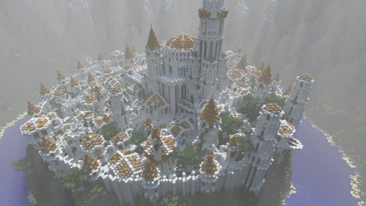 Gondolin castle mode stone lore gate white gold minecraft building ideas 4