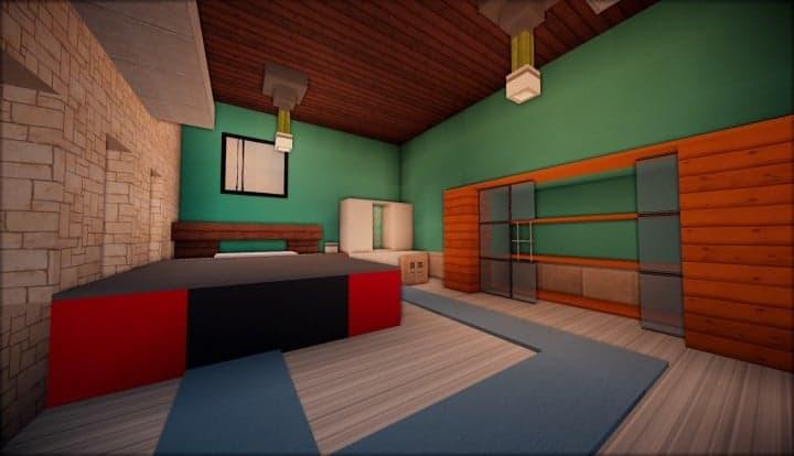 Kanomata's Modern House inside teal