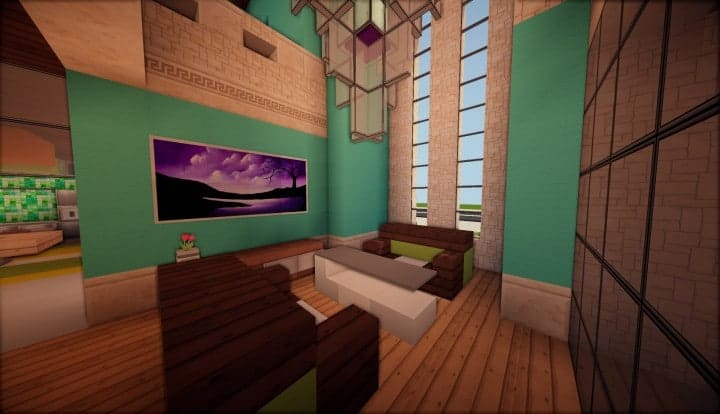 Kanomata's Modern House minecraft build home download blueprints 02