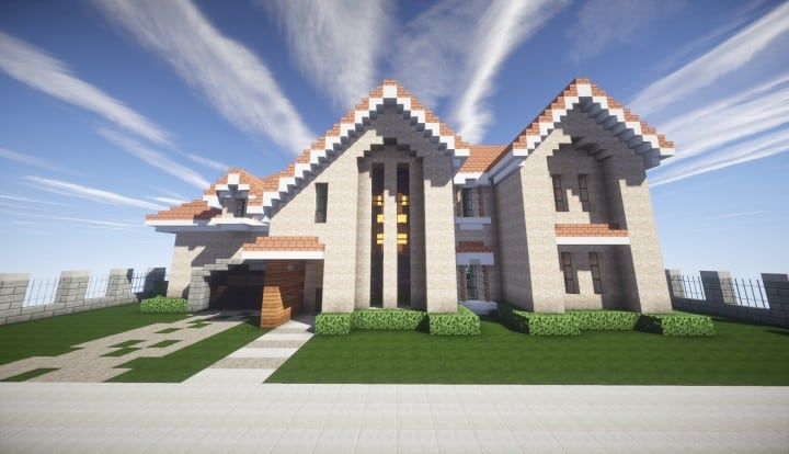 ... Kanomatau0027s Modern House Minecraft Build Home Download Blueprints 03