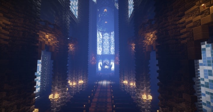 Prismarine Cathedral minecraft building ideas blueprints download save church 8