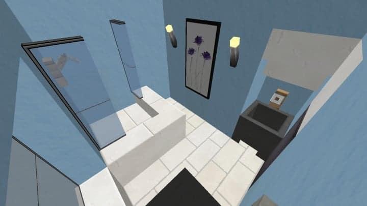 Small Cozy Suburban House minecraft blueprints building ideas 11