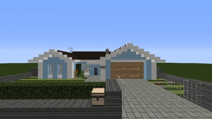 Small Cozy Suburban House minecraft blueprints building ideas 2