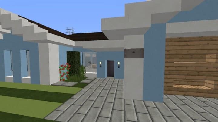 Small Cozy Suburban House minecraft blueprints building ideas 3