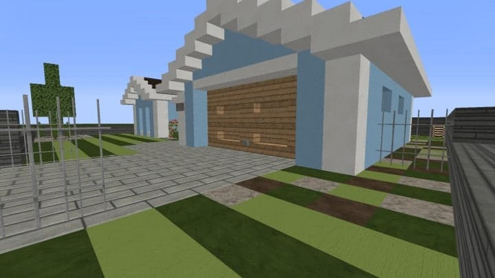 Small Cozy Suburban House minecraft blueprints building ideas 5