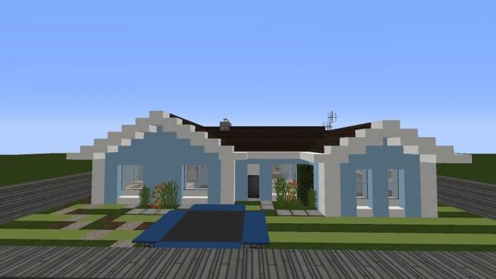 Small Cozy Suburban House minecraft blueprints building ideas 6