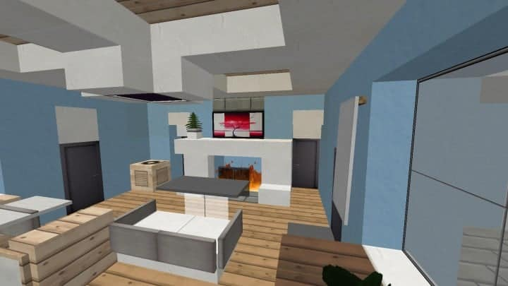 Small Cozy Suburban House minecraft blueprints building ideas 7