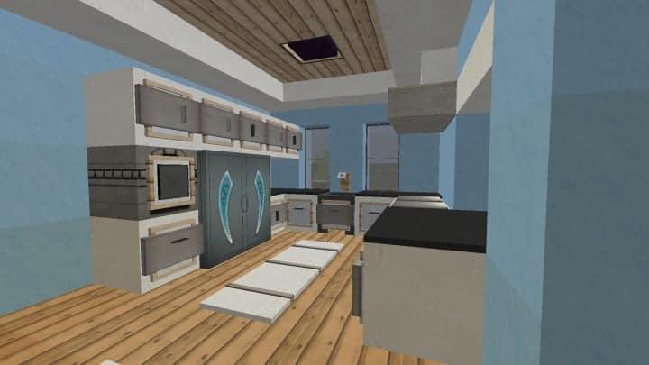 Small Cozy Suburban House minecraft blueprints building ideas 9