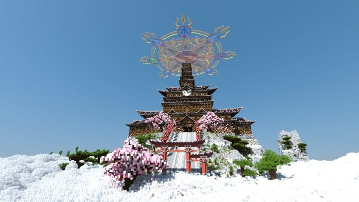 Temple of the Spirit of Cherry Blossom minecraft Chinese 01