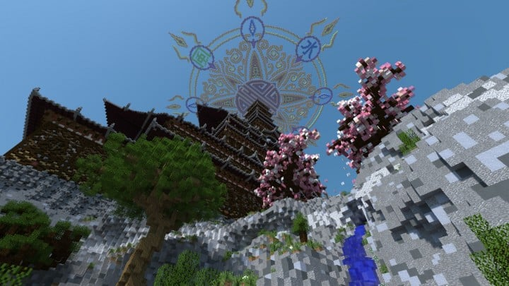 Temple of the Spirit of Cherry Blossom minecraft Chinese 02