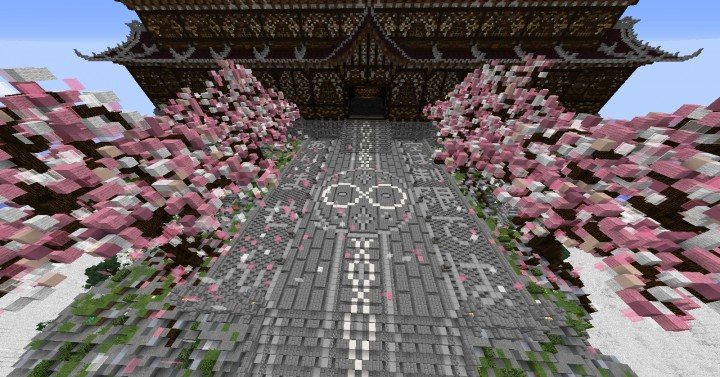 Temple of the Spirit of Cherry Blossom minecraft Chinese 7