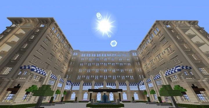 The Grand Peninsula Hotel 1920s minecraft building download save 3
