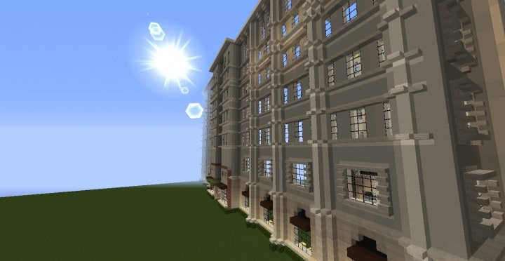 The Grand Peninsula Hotel 1920s minecraft building download save 4