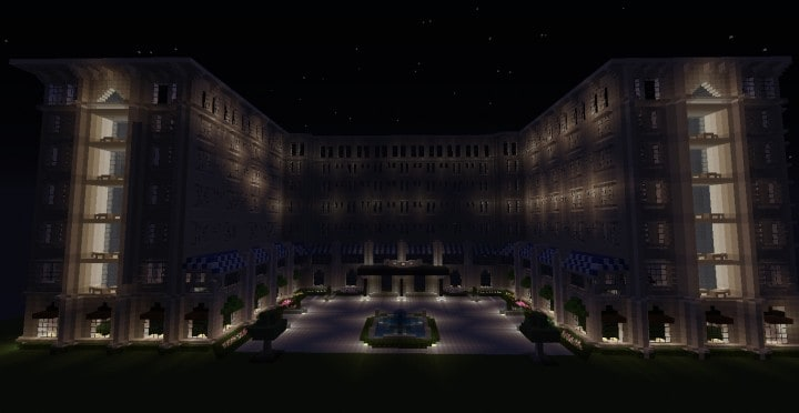 The Grand Peninsula Hotel 1920s minecraft building download save 5
