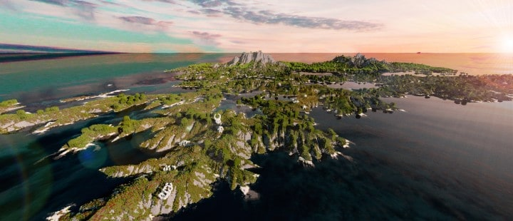 The Origin Lands Zorilak of Dasgnir custom terrain 8k by 8k world islands 10