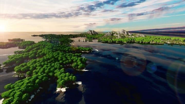 The Origin Lands Zorilak of Dasgnir custom terrain 8k by 8k world islands 11