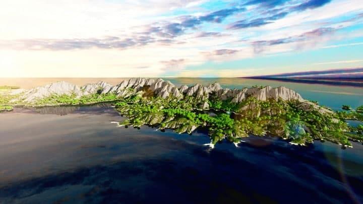The Origin Lands Zorilak of Dasgnir custom terrain 8k by 8k world islands 14