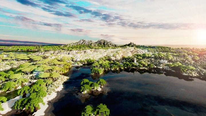 The Origin Lands Zorilak of Dasgnir custom terrain 8k by 8k world islands 16