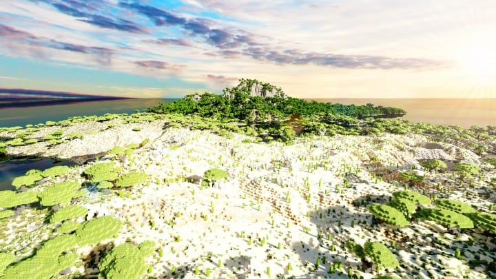 The Origin Lands Zorilak of Dasgnir custom terrain 8k by 8k world islands 17