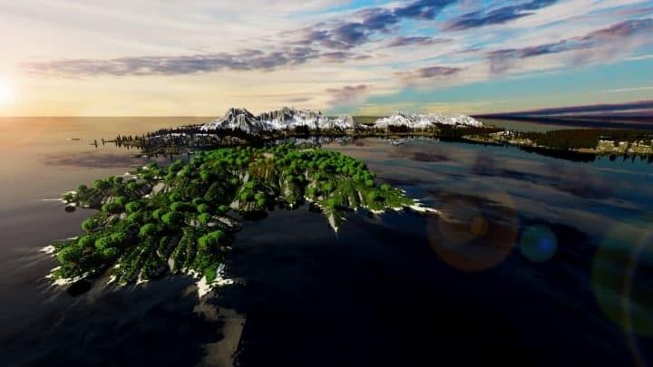 The Origin Lands Zorilak of Dasgnir custom terrain 8k by 8k world islands 3