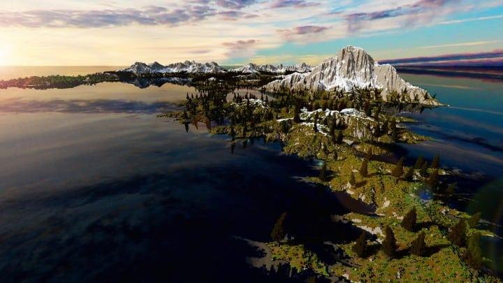 The Origin Lands Zorilak of Dasgnir custom terrain 8k by 8k world islands 4