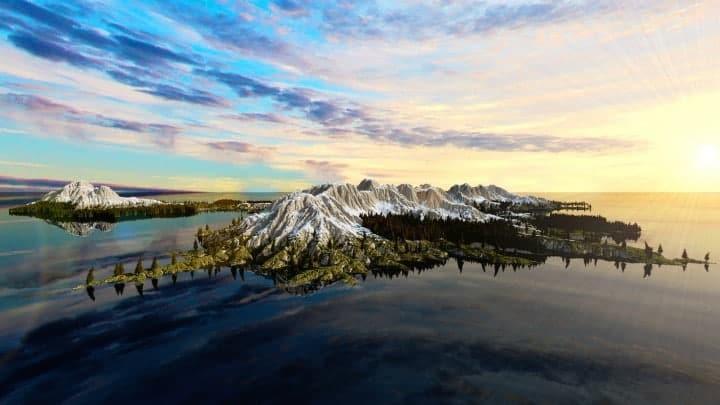 The Origin Lands Zorilak of Dasgnir custom terrain 8k by 8k world islands 6
