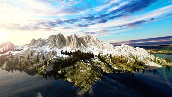 The Origin Lands Zorilak of Dasgnir custom terrain 8k by 8k world islands 8