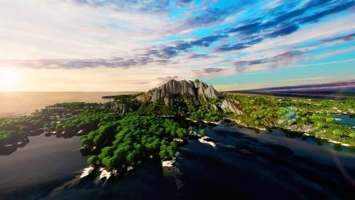 The Origin Lands Zorilak of Dasgnir custom terrain 8k by 8k world islands 9