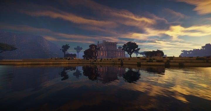 Aarun Oriental Fantasy City 1000x1000 minecraft download build  10 lake