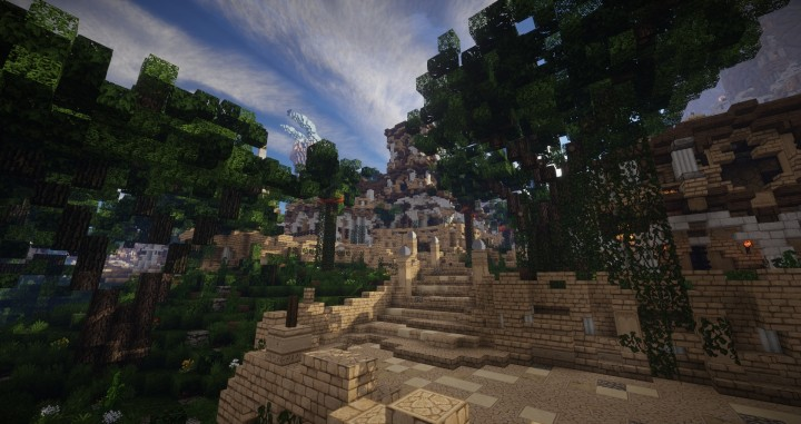Aarun Oriental Fantasy City 1000x1000 minecraft download build 12
