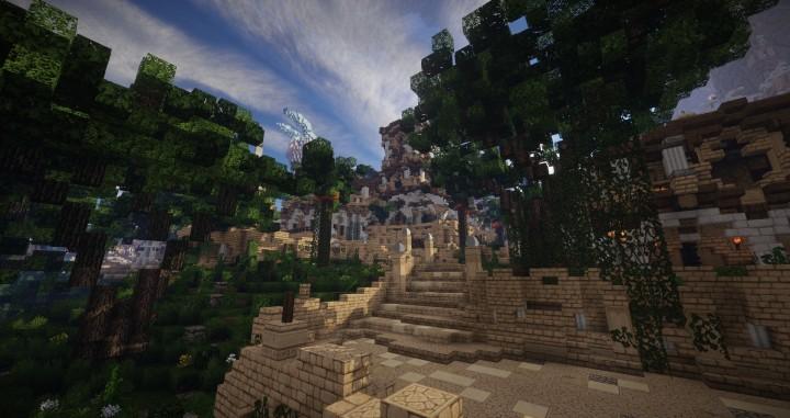 Aarun Oriental Fantasy City 1000x1000 minecraft download build 12