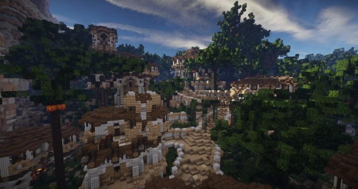 Aarun Oriental Fantasy City 1000x1000 minecraft download build 14