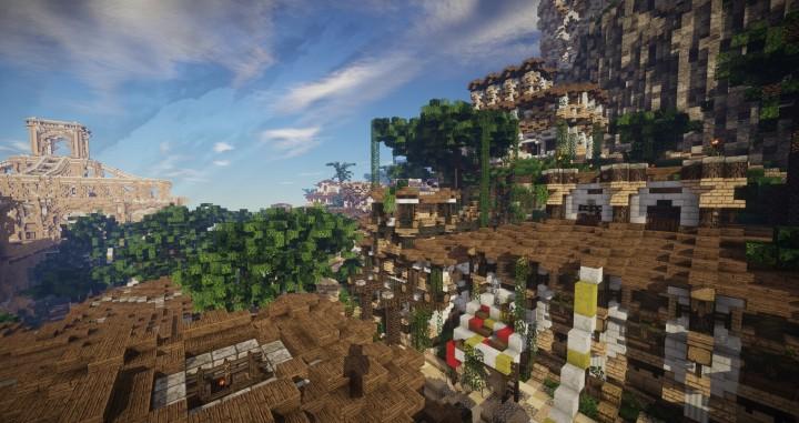 Aarun Oriental Fantasy City 1000x1000 minecraft download build 15