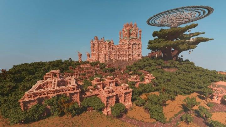 Aarun Oriental Fantasy City 1000x1000 minecraft download build  4