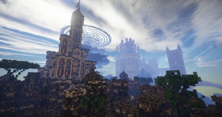 Aarun Oriental Fantasy City 1000x1000 minecraft download build  7 castle