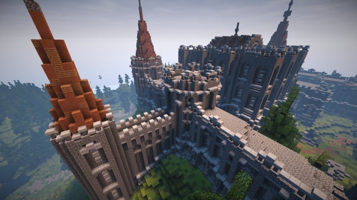 Abandoned Medieval Castle minecraft building blueprints download river 11