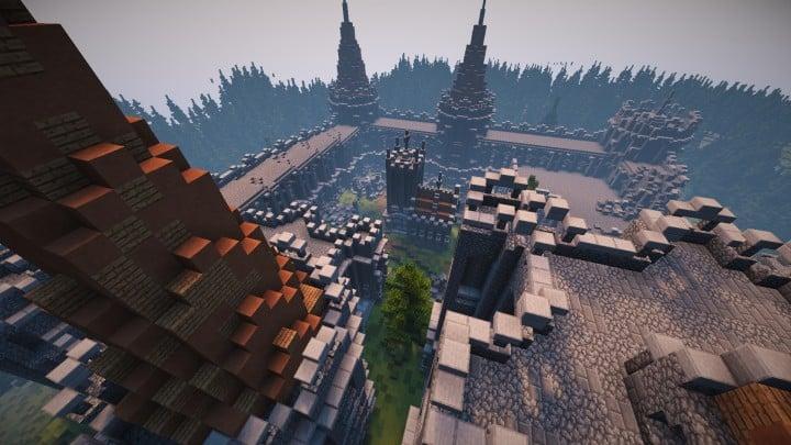 Abandoned Medieval Castle minecraft building blueprints download river 13