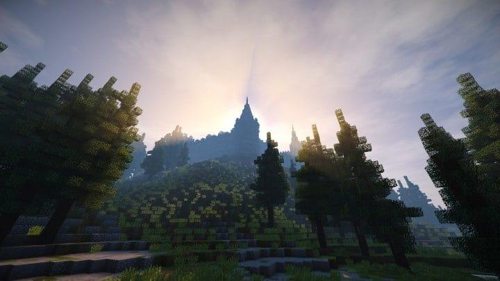 Abandoned Medieval Castle minecraft building blueprints download river 14