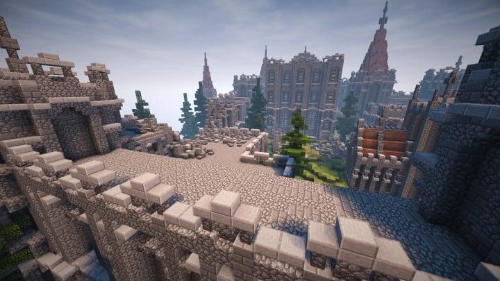 Abandoned Medieval Castle minecraft building blueprints download river 15