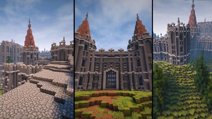 Abandoned Medieval Castle minecraft building blueprints download river 2
