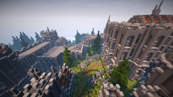 Abandoned Medieval Castle minecraft building blueprints download river 3