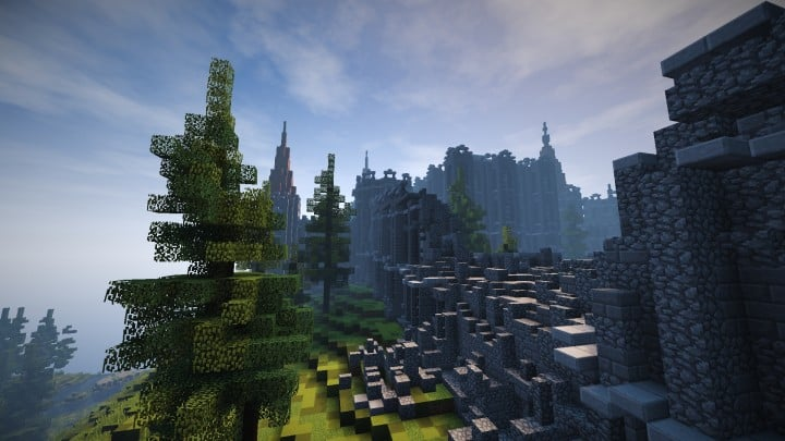 Abandoned Medieval Castle minecraft building blueprints download river 4