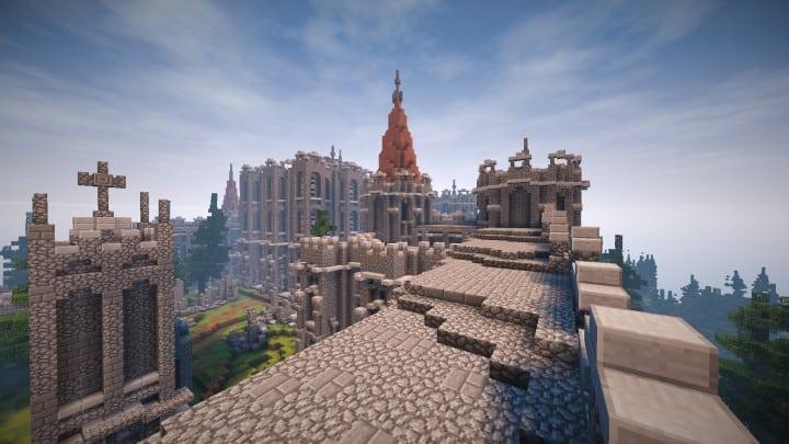 Abandoned Medieval Castle minecraft building blueprints download river 5