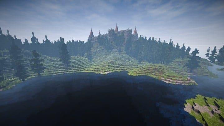 Abandoned Medieval Castle minecraft building blueprints download river 6