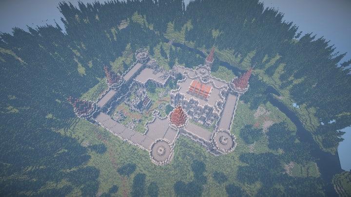 Abandoned Medieval Castle minecraft building blueprints download river 7