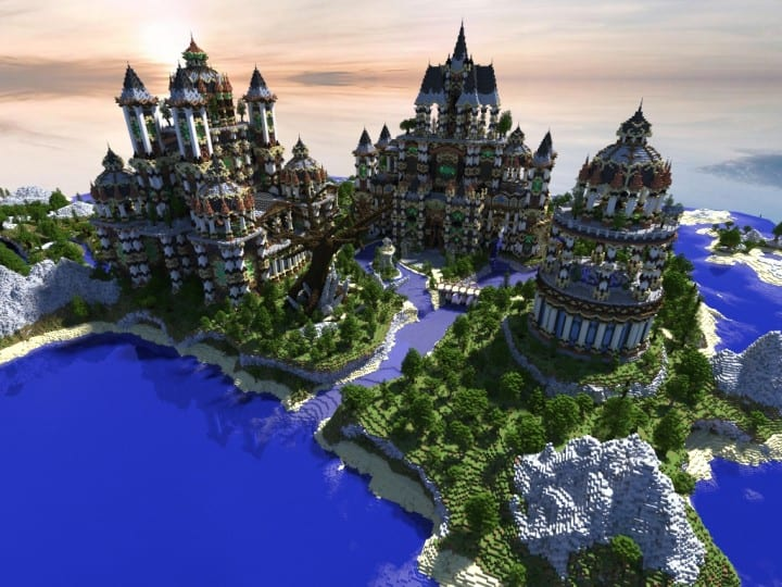 Andor The Two Suns city castle minecraft build ideas download tree river mote 2
