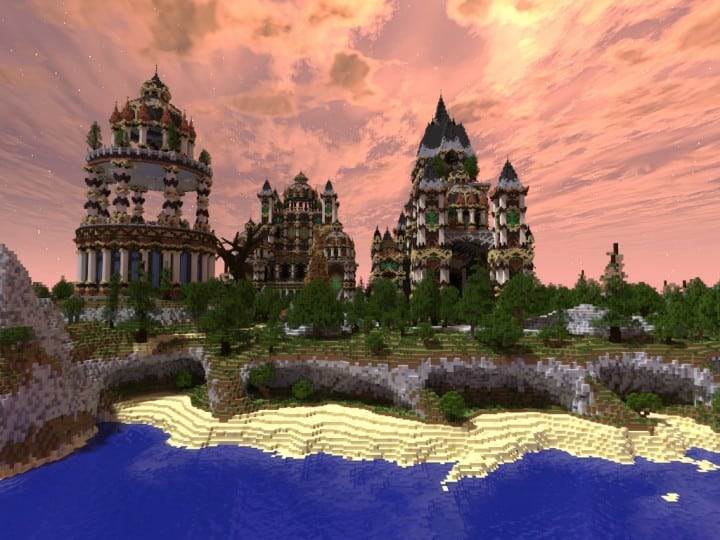 Andor The Two Suns city castle minecraft build ideas download tree river mote 3