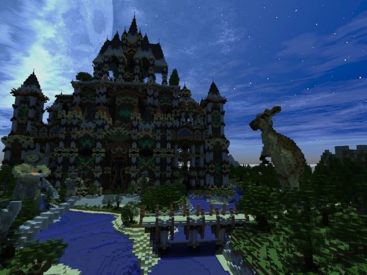 Andor The Two Suns city castle minecraft build ideas download tree river mote 5