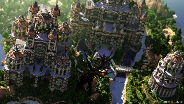 Andor The Two Suns city castle minecraft build ideas download tree river mote