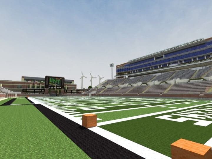 Apogee Stadium with Touchdown Rollercoaster minecraft building ideas download saves 12